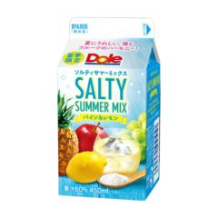 夏にうれしい、塩とフルーツのハーモニー!『DoleⓇ SALTY SUMMER MIX パイン&レモン』450ml 期間限定発売