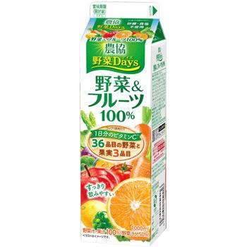 農協野菜Days 野菜&フルーツ100%