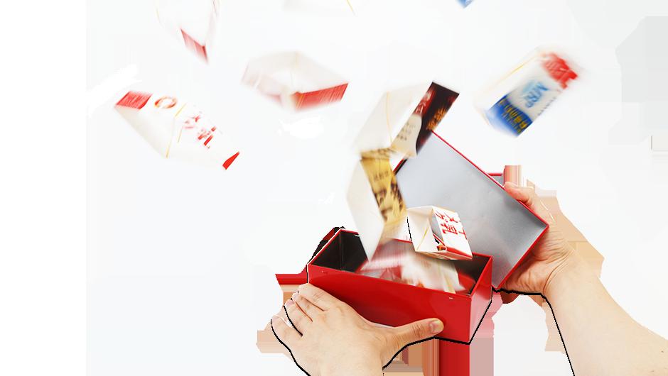 びっくり 箱 牛乳パック